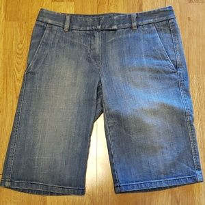 Theory denim bermuda shorts sz 2
